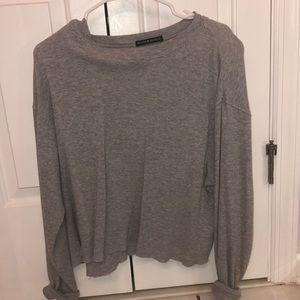 Brandy Melvin Grey Crewneck Sweatshirt